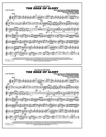 The Edge Of Glory - 1st Bb Trumpet Sheet Music