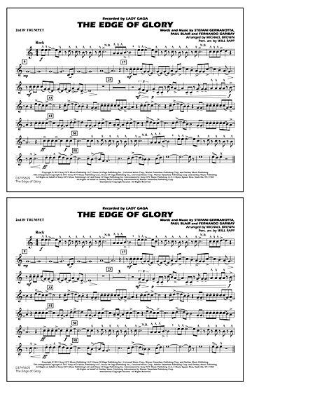 The Edge Of Glory - 2nd Bb Trumpet Sheet Music