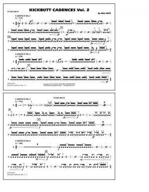 Kickbutt Cadences - Multiple Bass Drums Sheet Music