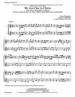 We Are One in Christ -- Instrumental Parts Sheet Music