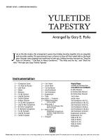 Yuletide Tapestry: Score Sheet Music