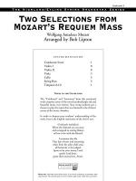 Two Selections from Mozart's Requiem Mass: Score Sheet Music