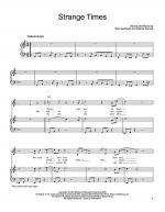 Strange Times Sheet Music