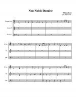 Non nobis domine (William Byrd) for Brass Trio Sheet Music