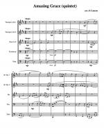 Amazing Grace for Brass Quintet Sheet Music