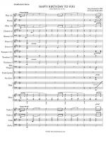 Happy Birthday - Conductor's Score (Symphony Orchestra) Sheet Music