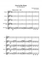 Carol of the Drum - for Clarinet Quartet Sheet Music