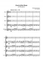 Carol of the Drum - for Flute Quartet Sheet Music