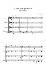 O Little Town of Bethlehem - Jazz Carol for Clarinet Quartet Sheet Music