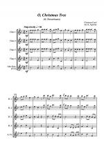 O Christmas Tree (O Tannenbaum) - Jazz Carol for Flute Quartet Sheet Music