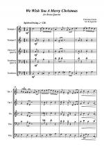 We Wish You A Merry Christmas - Jazz Carol for Brass Quartet Sheet Music
