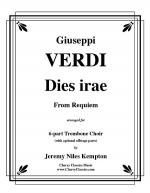 Dies Irae from Requiem for 6-part Trombone Ensemble w. opt. parts Sheet Music