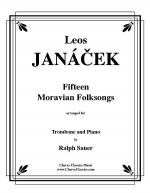 15 Moravian Folk Songs for Trombone and Piano Sheet Music