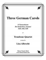 Three German Carols for Trombone Quartet Sheet Music