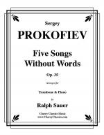 Five Songs Without Words for Trombone & Piano, Op. 35 Sheet Music