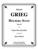 Holberg Suite for 10-part Brass Ensemble Sheet Music