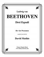 Drei Equali (Three Equale) for four Trombones Sheet Music