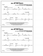 All Of The Lights - Cymbals Sheet Music