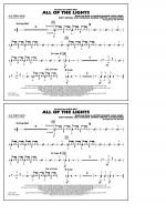 All Of The Lights - Aux Percussion Sheet Music
