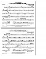 I Knew You Were Trouble - Trombone Sheet Music