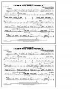 I Knew You Were Trouble - Snare Drum Sheet Music