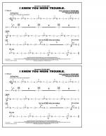 I Knew You Were Trouble - Cymbals Sheet Music