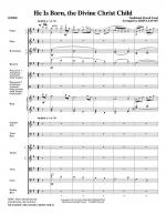 He Is Born, the Divine Christ Child - Full Score Sheet Music