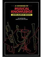 Handbook Of Musical Knowledge Sheet Music