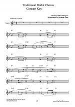 Traditional Bridal Chorus - Alto Sax + Tenor Sax + Concert Key Sheet Music