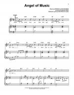 Angel Of Music Sheet Music