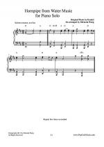 Allegro Maestoso (Hornpipe) from Water Music - Piano Solo Sheet Music