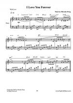 I Love You Forever - Touching Piano Music Sheet Music