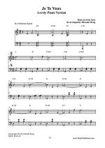 Je Te Veux - Romantic Classical Music Sheet Music