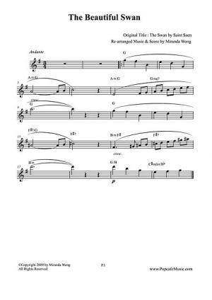 Saint-Saens Le Cygne (The Swan) Sheet Music