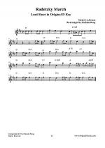 Radetzky March in Original D Key - Lead Sheet Sheet Music