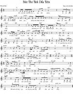 Buc Thu Tinh Dau Tien Sheet Music