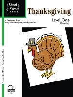 Short & Sweet Thanksgiving Sheet Music