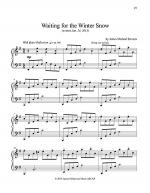 Waiting for the Winter Snow Sheet Music