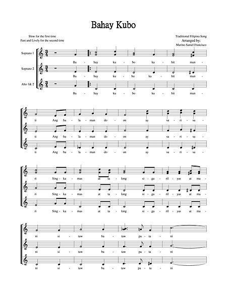 Bahay Kubo Sheet Music
