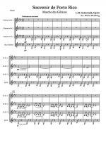 Souvernir de Porto Rico (Clarinet Quartet) Sheet Music