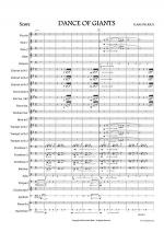 DANCE OF GIANTS for Concert Band Sheet Music