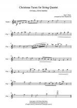 Christmas Tunes for String Quartet - O Come, All Ye Faithful - Violin 1 Sheet Music