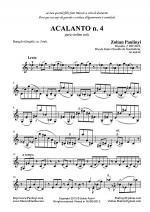 Acalanto n.4 for solo violin (or cello or viola) Sheet Music