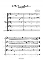 God Rest Ye Merry Gentlemen - Jazz Carol for String Quartet Sheet Music