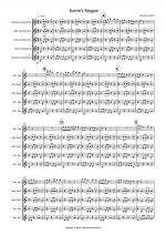 Burnie's Reggae for Saxophone Quintet Sheet Music