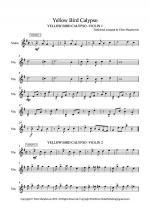 Yellow Bird Calypso - Violin Trio - PARTS 1, 2, 3 Sheet Music