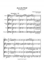 Joy to the World - Rock Carol for String Quartet Sheet Music