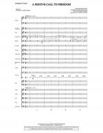 A Festive Call to Freedom - Score Sheet Music