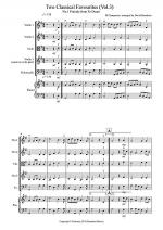 2 Classical Favourites for String Quartet (volume three) Sheet Music