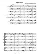 Jupiter Hymn for String Quartet Sheet Music